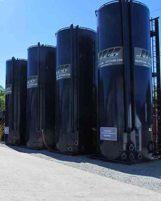 JWF Industries vertical frac tanks