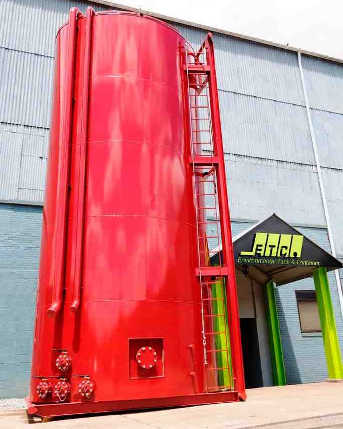JWF Industries vertical mud tank