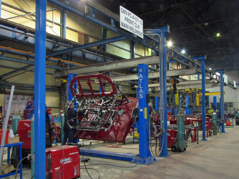 JWF Industries welding assembly line